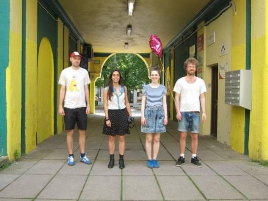 Kaunas. Anna-Sofia, Mikko, Tuomas and Iranzu